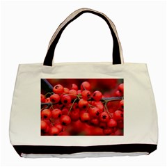Red Berries 1 Basic Tote Bag (two Sides)
