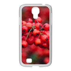 Red Berries 1 Samsung Galaxy S4 I9500/ I9505 Case (white)