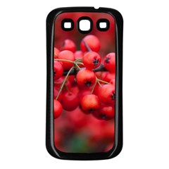 Red Berries 1 Samsung Galaxy S3 Back Case (black)