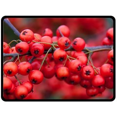 Red Berries 1 Double Sided Fleece Blanket (large)
