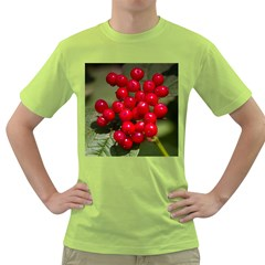 Red Berries 2 Green T Shirt