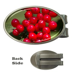 Red Berries 2 Money Clips (oval)