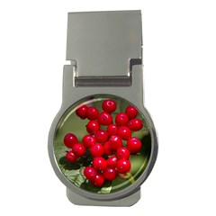 Red Berries 2 Money Clips (round)
