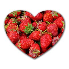 Strawberries 1 Heart Mousepads