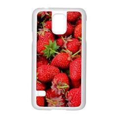 Strawberries 1 Samsung Galaxy S5 Case (white)