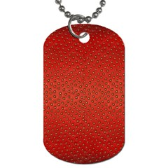 Strawberries 2 Dog Tag (two Sides)