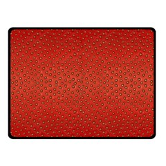 Strawberries 2 Double Sided Fleece Blanket (small)