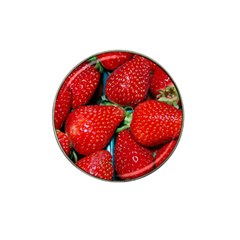 Strawberries 3 Hat Clip Ball Marker (4 Pack)