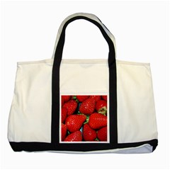 Strawberries 3 Two Tone Tote Bag