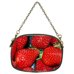 Strawberries 3 Chain Purses (two Sides)
