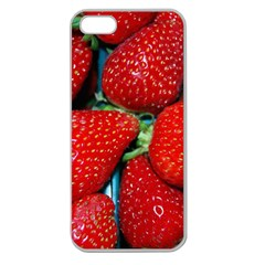 Strawberries 3 Apple Seamless Iphone 5 Case (clear)