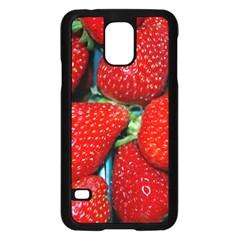Strawberries 3 Samsung Galaxy S5 Case (black)
