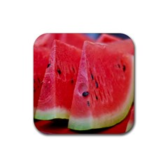 Watermelon 1 Rubber Square Coaster (4 Pack)