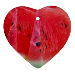 Watermelon 1 Heart Ornament (two Sides)