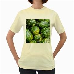 Watermelon 2 Women s Yellow T Shirt