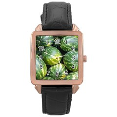 Watermelon 2 Rose Gold Leather Watch