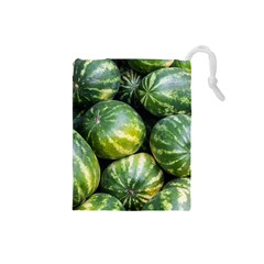 Watermelon 2 Drawstring Pouches (small)
