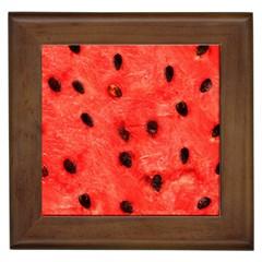 Watermelon 3 Framed Tiles