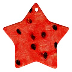 Watermelon 3 Star Ornament (two Sides)