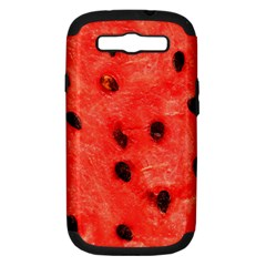Watermelon 3 Samsung Galaxy S Iii Hardshell Case (pc+silicone)