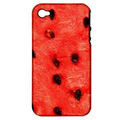 Watermelon 3 Apple Iphone 4/4s Hardshell Case (pc+silicone)