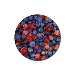 Wild Berries 1 Rubber Coaster (round)