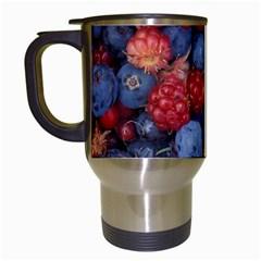 Wild Berries 1 Travel Mugs (white)