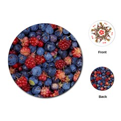 Wild Berries 1 Playing Cards (round)