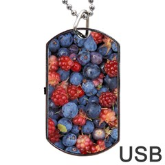 Wild Berries 1 Dog Tag Usb Flash (one Side)
