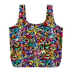 Artwork By Patrick Colorful 8 Full Print Recycle Bags (l)