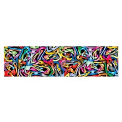 Artwork By Patrick Colorful 8 Satin Scarf (oblong)