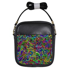 Artwork By Patrick Colorful 9 Girls Sling Bags