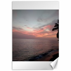 Red Sunset Rincon Puerto Rico Canvas 12  X 18
