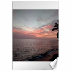 Red Sunset Rincon Puerto Rico Canvas 24  X 36
