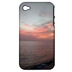 Red Sunset Rincon Puerto Rico Apple Iphone 4/4s Hardshell Case (pc+silicone)