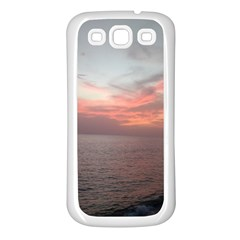 Red Sunset Rincon Puerto Rico Samsung Galaxy S3 Back Case (white)