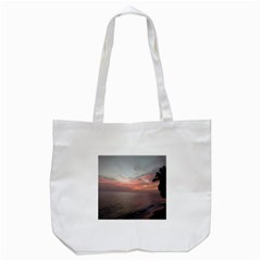 Red Sunset Rincon Puerto Rico Tote Bag (white)