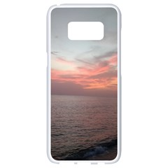 Red Sunset Rincon Puerto Rico Samsung Galaxy S8 White Seamless Case