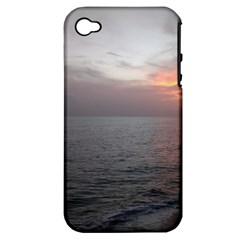 Sunset Apple Iphone 4/4s Hardshell Case (pc+silicone)
