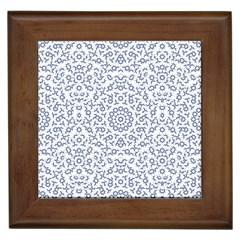 Radial Mandala Ornate Pattern Framed Tiles
