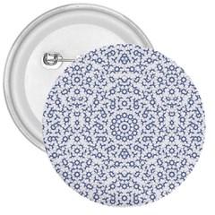 Radial Mandala Ornate Pattern 3  Buttons