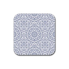 Radial Mandala Ornate Pattern Rubber Square Coaster (4 Pack)