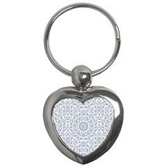 Radial Mandala Ornate Pattern Key Chains (heart)
