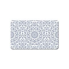 Radial Mandala Ornate Pattern Magnet (name Card)