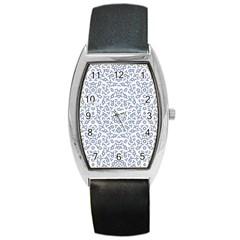 Radial Mandala Ornate Pattern Barrel Style Metal Watch