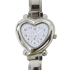 Radial Mandala Ornate Pattern Heart Italian Charm Watch