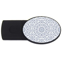 Radial Mandala Ornate Pattern Usb Flash Drive Oval (4 Gb)