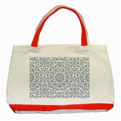 Radial Mandala Ornate Pattern Classic Tote Bag (red)