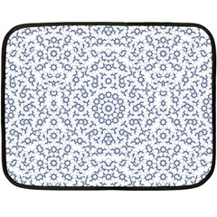 Radial Mandala Ornate Pattern Double Sided Fleece Blanket (mini)