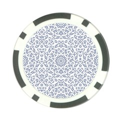 Radial Mandala Ornate Pattern Poker Chip Card Guard (10 Pack)